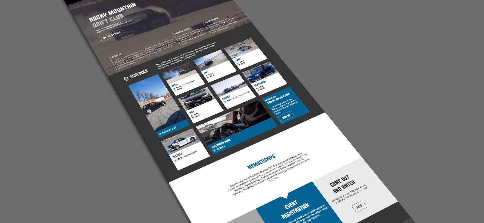 Rocky Mountain Drift Club - Web Design